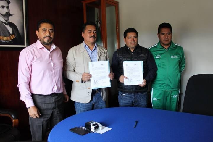 Con este convenio impulsaremos el deporte en el municipio: alcalde