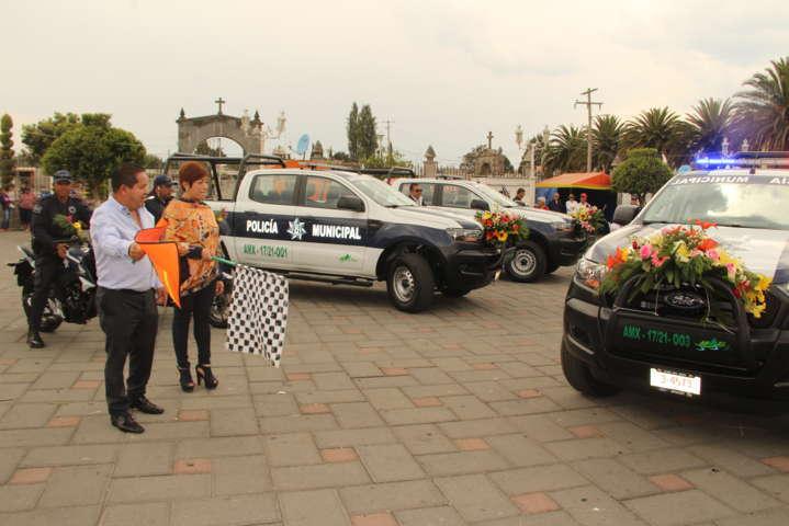Alcalde mejora la seguridad del municipio con nuevas unidades