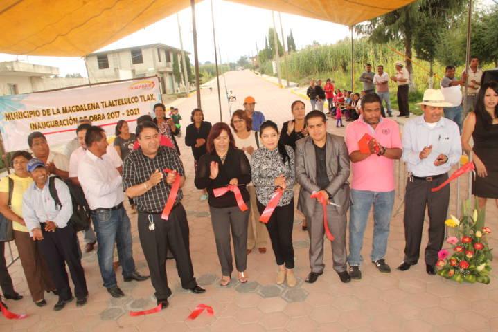 El desarrollo del municipio se ve en cada obra que realizamos: Pluma Morales