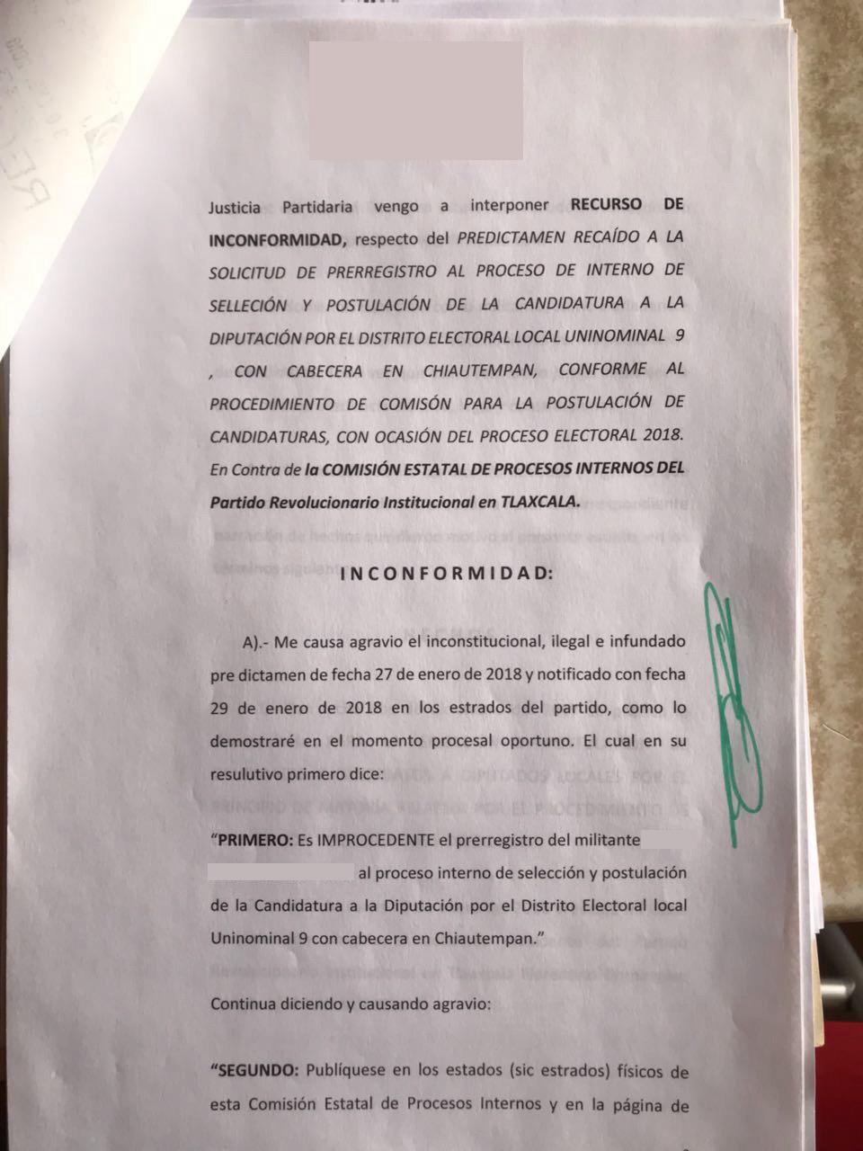 Priista presentan impugnación contra proceso para elegir candidatos