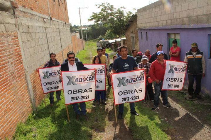 Sánchez Amador acerca más servicios básicos a la comunidad de Cuatla