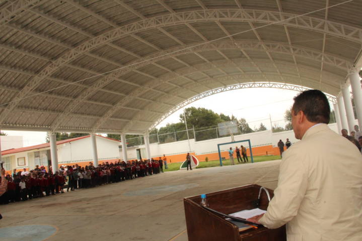 Mejoramos la infraestructura educativa de la primaria Zaragoza: alcalde