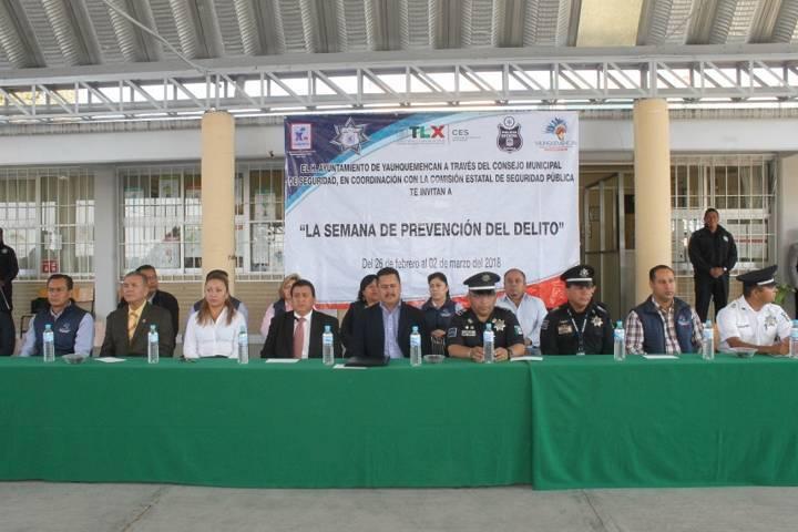 Villarreal Chairez puso en marcha la Semana de Prevención del Delito