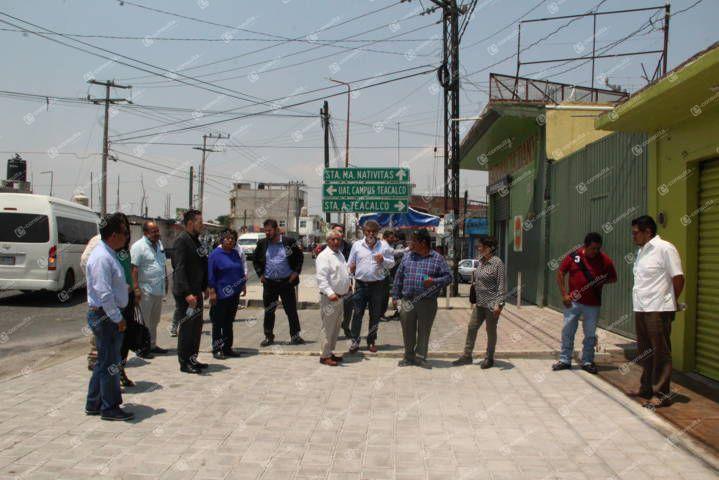 Alcalde de Teacalco moderniza la avenida Tlaxcala-San Martin