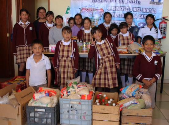 Realiza la dirección de juventud de Huamantla entrega de víveres a casa hogar