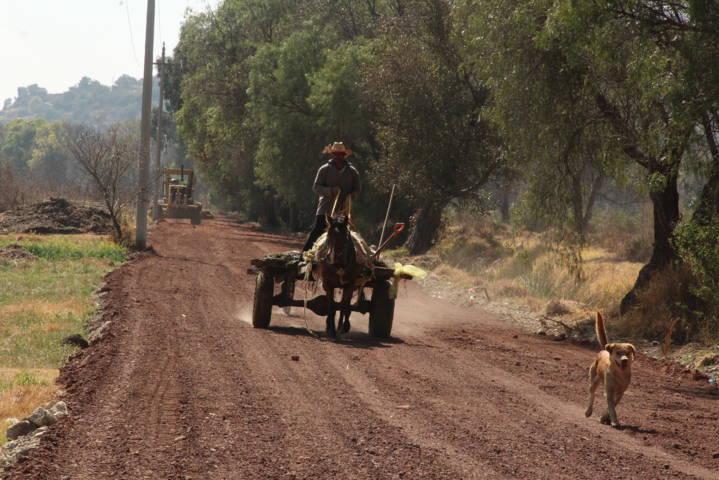 Alcalde cumple su compromiso con los campesinos y rehabilita camino saca cosechas