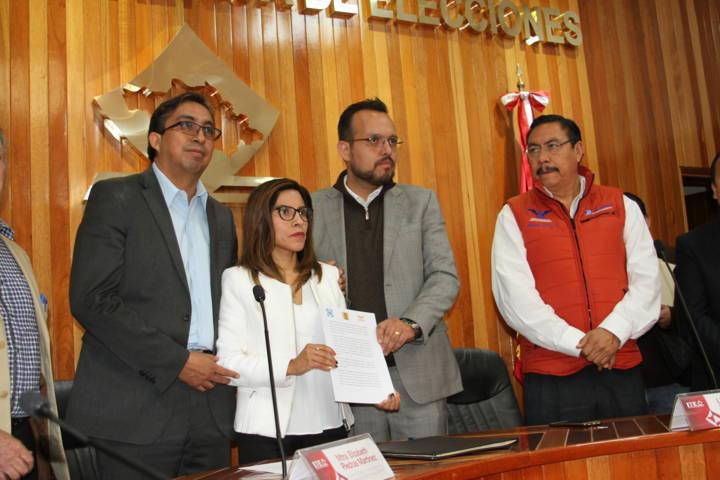 Formalizan PAN, PRD y MC intención de crear Frente Ciudadano por México en Tlaxcala