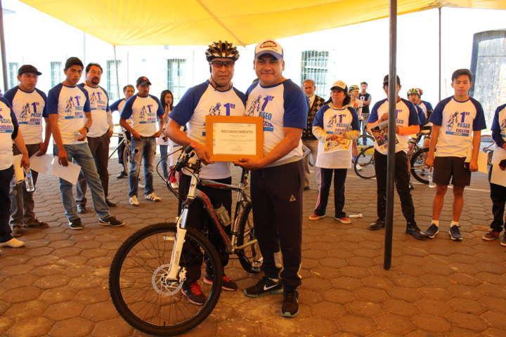 Primer paseo ciclista realizado en Tetla de la Solidaridad