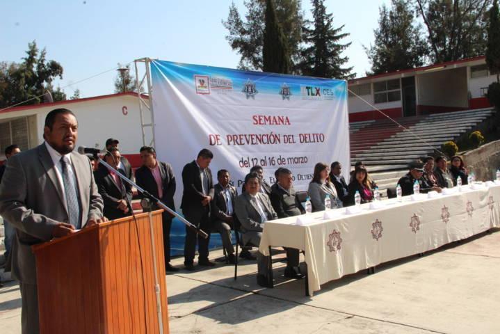 Mendieta Lira pone en marcha la novena semana de prevención del delito