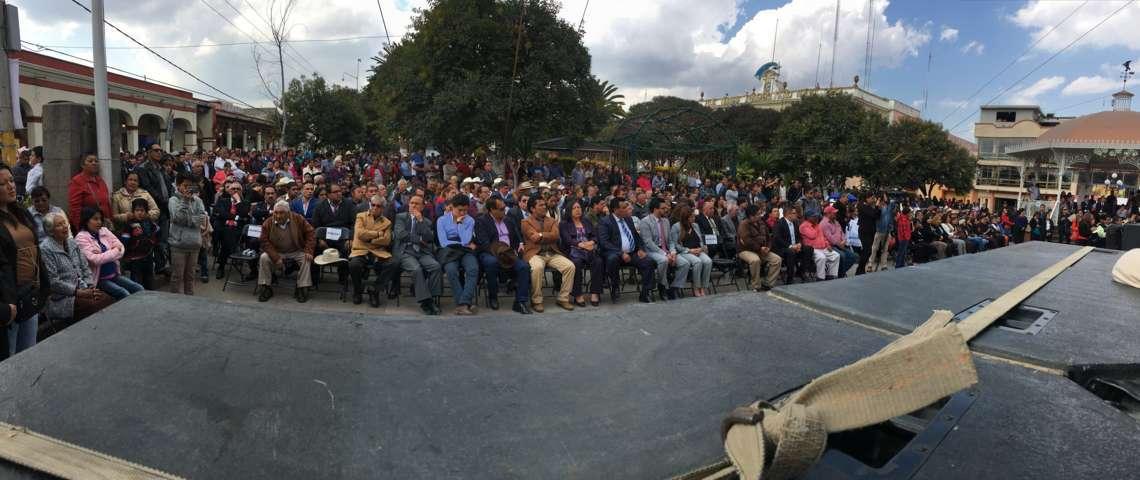 Refrendan sus compromisos alcaldes de Calpulalpan e Ixtenco