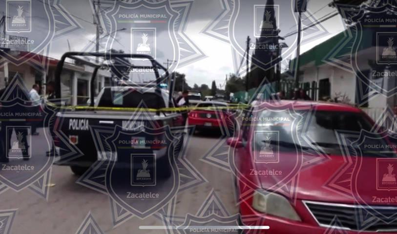 Policía municipal implementa operativo ante agresión de arma de fuego a transeúnte