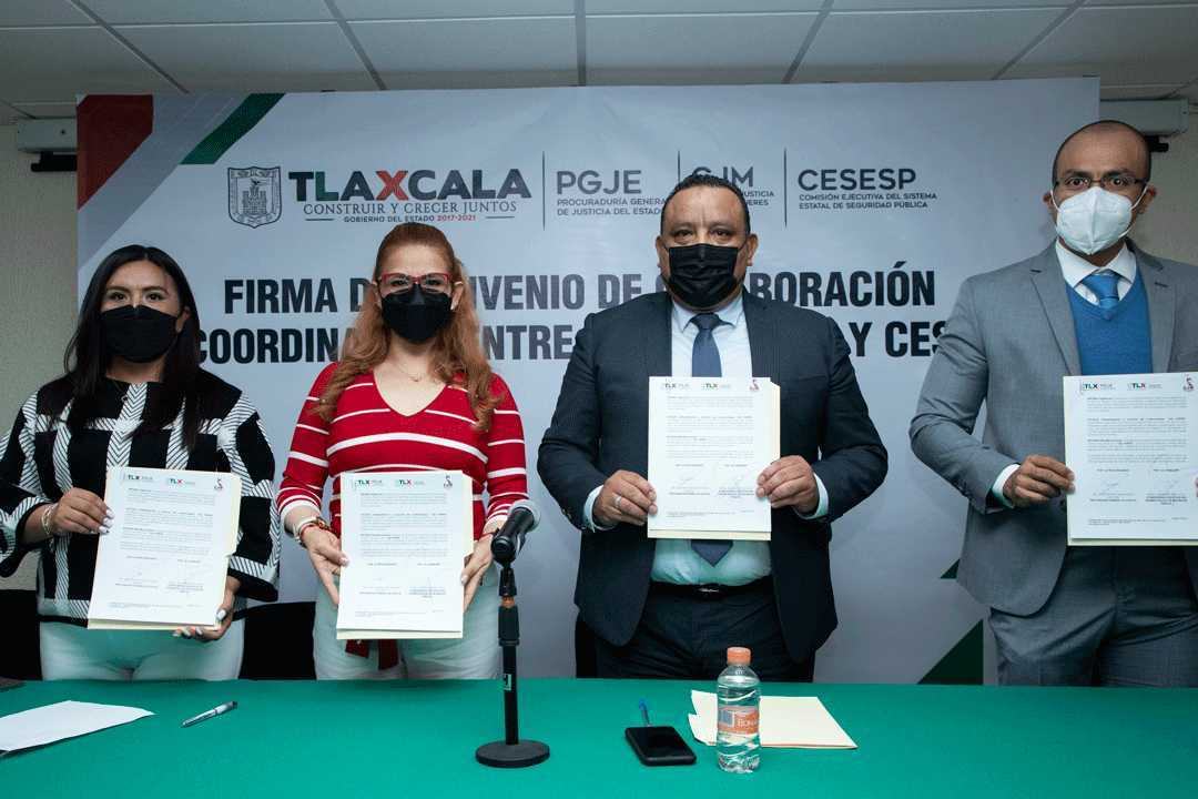 Firman convenio de colaboración PGJE, CJM y CESESP para prevenir y erradicar la violencia contra las mujeres