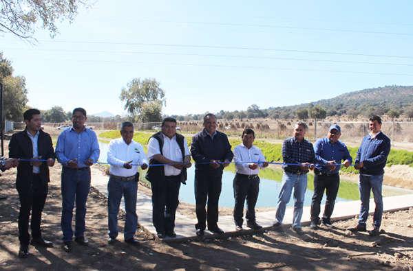 Entrega JAAL rehabilitación de planta de tratamiento en Xalpatlahuaya