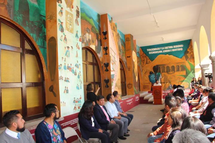 Plasman mural de la cultura regional y la Teololoa en la alcaldía de Teolocholco