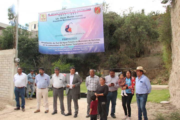 Alcalde pone en marcha obra de servicio básico a la calle Lerma de Tenanyecac