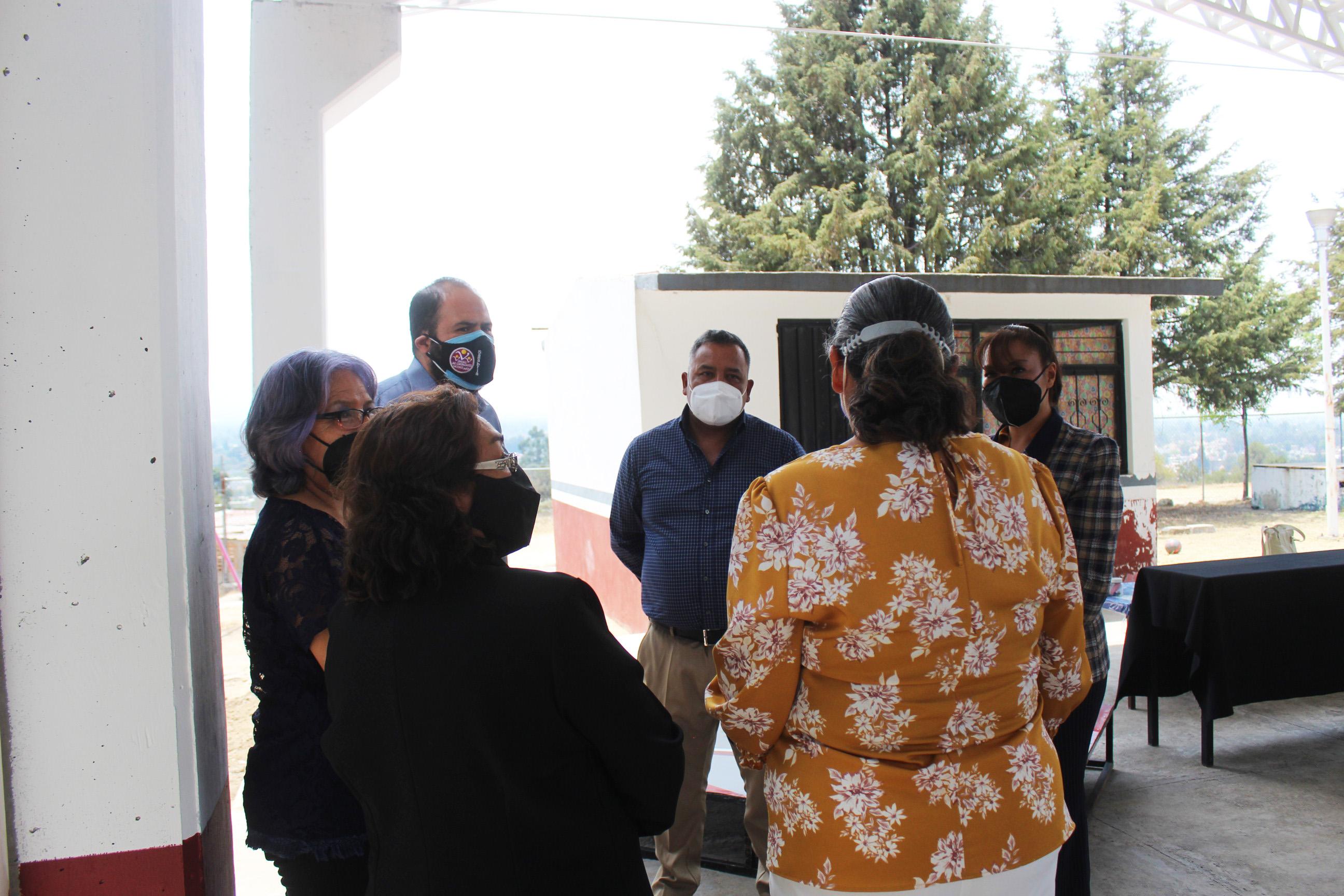 Apoyo sin precendentes, Sanabria Chávez entrega la sexta techumbre en Santa Cruz Tlaxcala