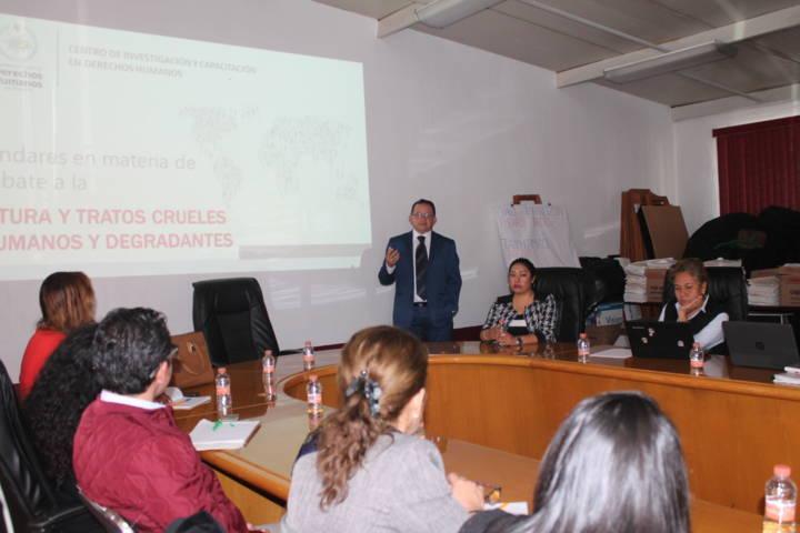 Personal de la CEDH se actualizan en sistema de protección en Derechos Humanos