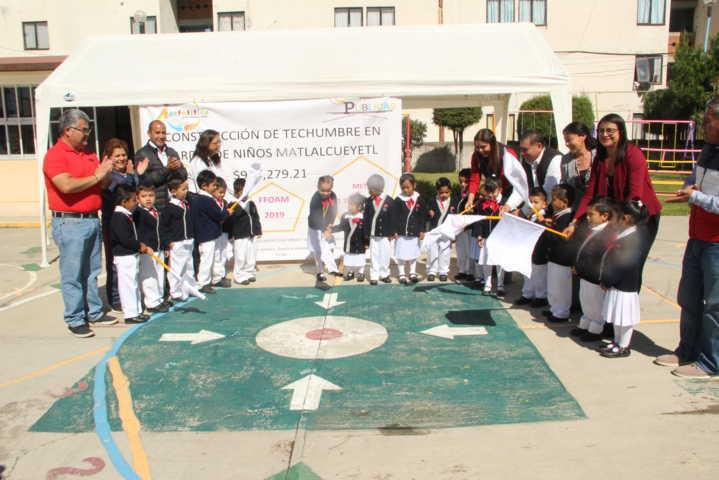 El Jardín de niños Matlalcueyetl contara con una techumbre en su patio cívico: ERJ