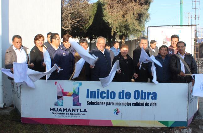 Inicia Ayuntamiento de Huamantla obra de ampliación de UBR