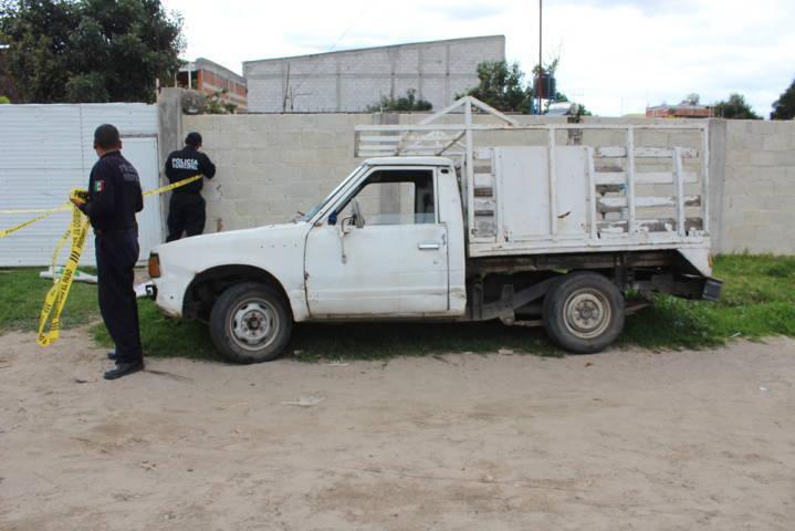 Policía Municipal recuperan camioneta robada en Puebla