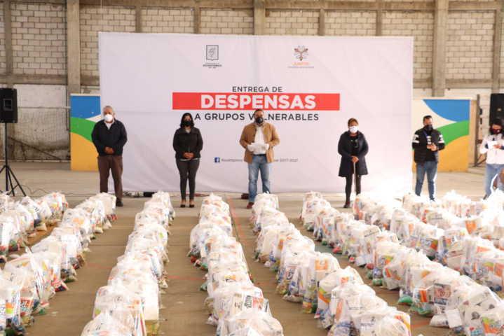 Inicia Badillo Jaramillo entrega de más de 1,300 despensas a grupos vulnerables