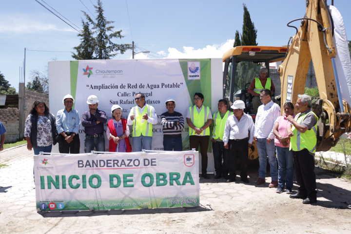 Alcalde pone en marcha rehabilitación de la red de agua potable en Tepatlaxco