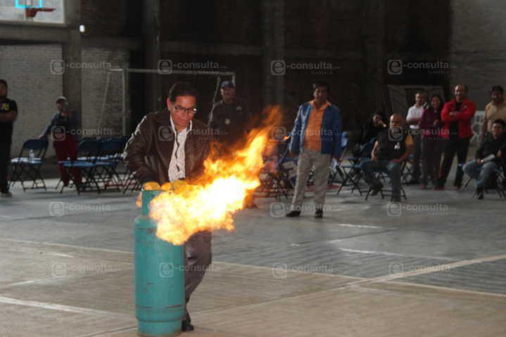 Ayuntamiento de Huactzinco son capacitados en manejo de Gas L.P.