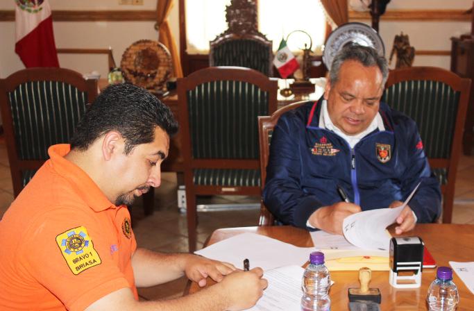 Firman convenio de colaboración Ayuntamiento de Huamantla y Briasa
