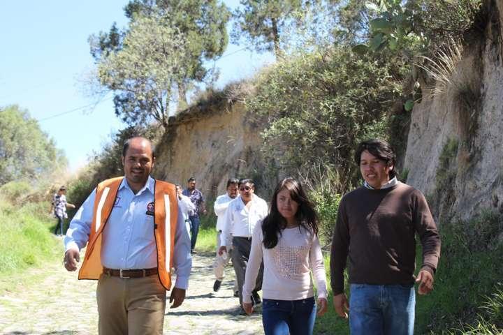 Rehabilitarán punto de cruce de un drenaje en Santa Cruz Tlaxcala