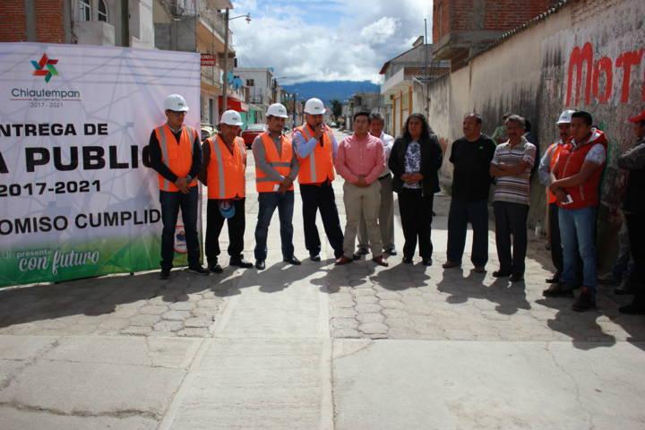 Ayuntamiento de Chiautempan inaugura red para drenaje sanitario en Col. Reforma
