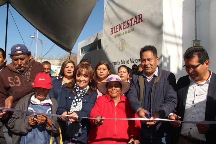 Lorena Cuéllar apertura oficinas de Bienestar para abuelitos en SPM