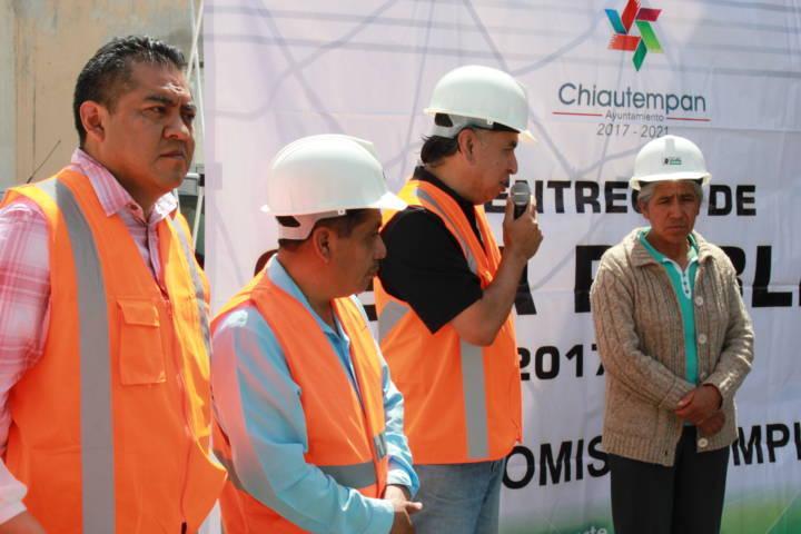 Entrega Ayuntamiento de Chiautempan rehabilitación de drenaje sanitario en Col. Reforma