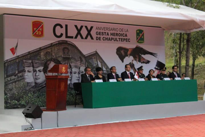Se lleva a cabo la conmemoración del CLXX Aniversario de la Gesta Heroica de Chapultepec