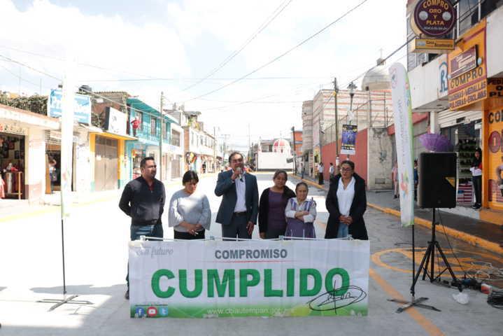 La pavimentación de la calle Morelos beneficiara a más de 15 mil gentes: alcalde