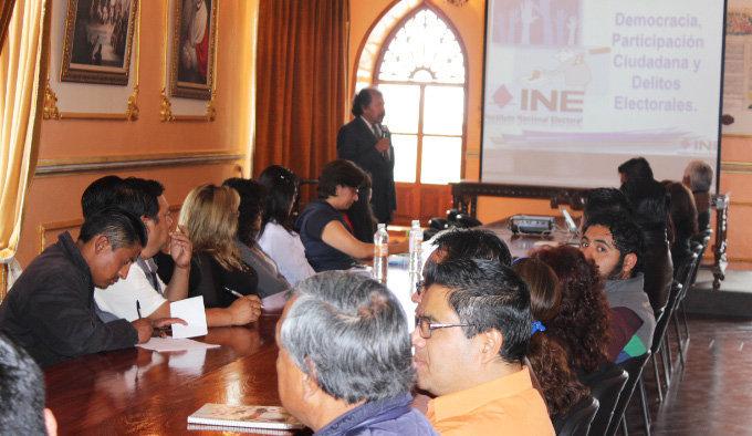 En Huamantla se trabaja en materia de prevención de delitos electorales