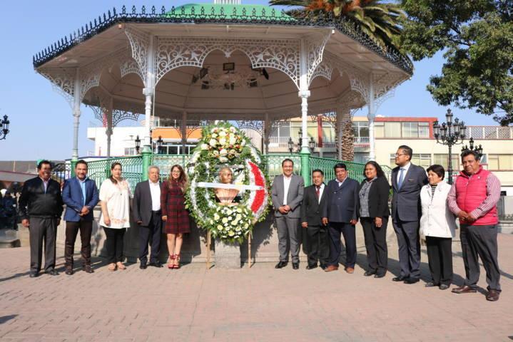 Conmemora Chiautempan 212 años del natalicio de Benito Juárez