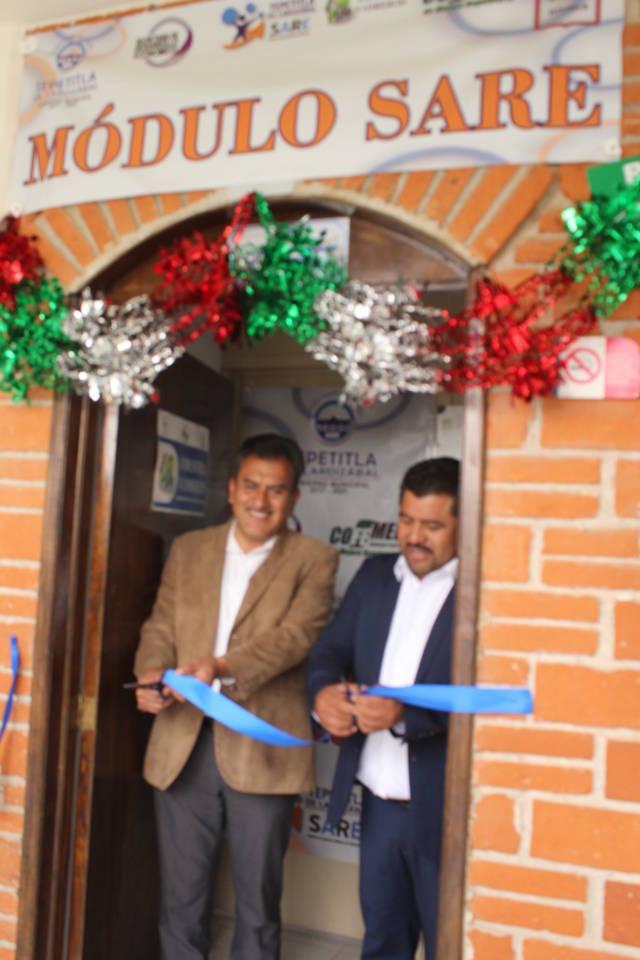 Inauguran instalaciones del Módulo SARE Tepetitla