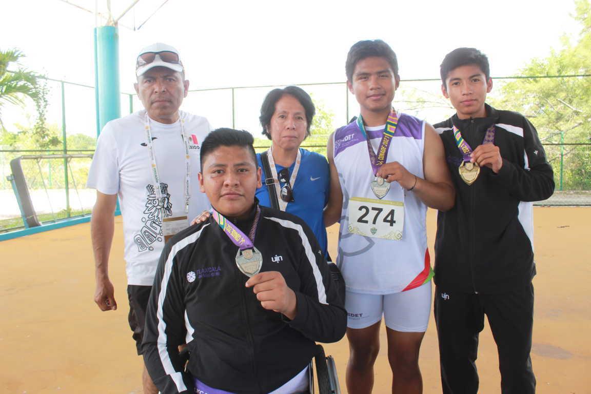 Suma Tlaxcala dos oros y dos platas más al medallero de Juegos Paranacionales Conade 2021