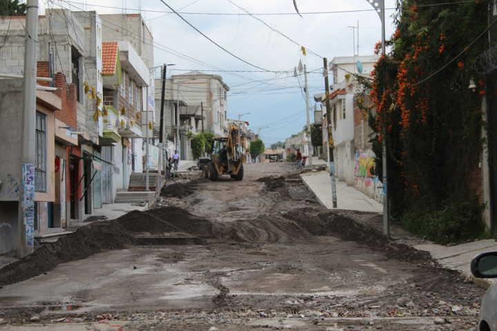 El colector pluvial de la calle Puebla presenta un avance del 80%