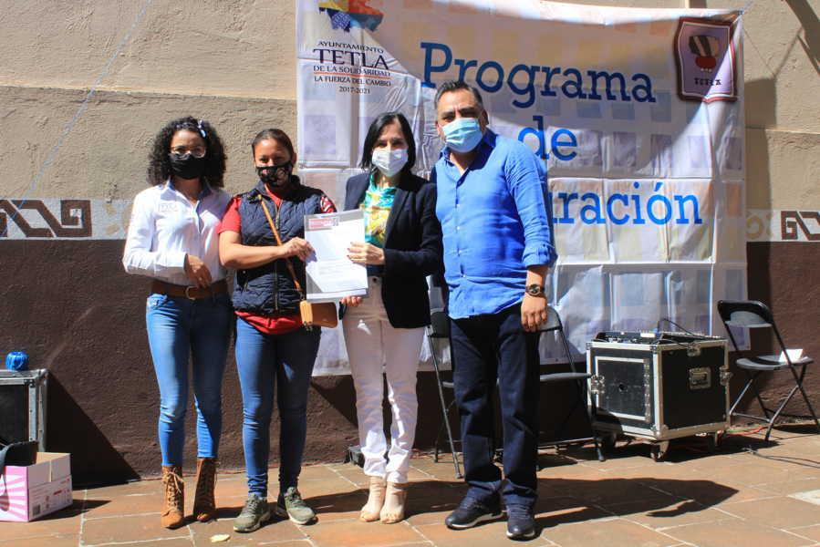 Nueva entrega de escrituras en Tetla de la Solidaridad