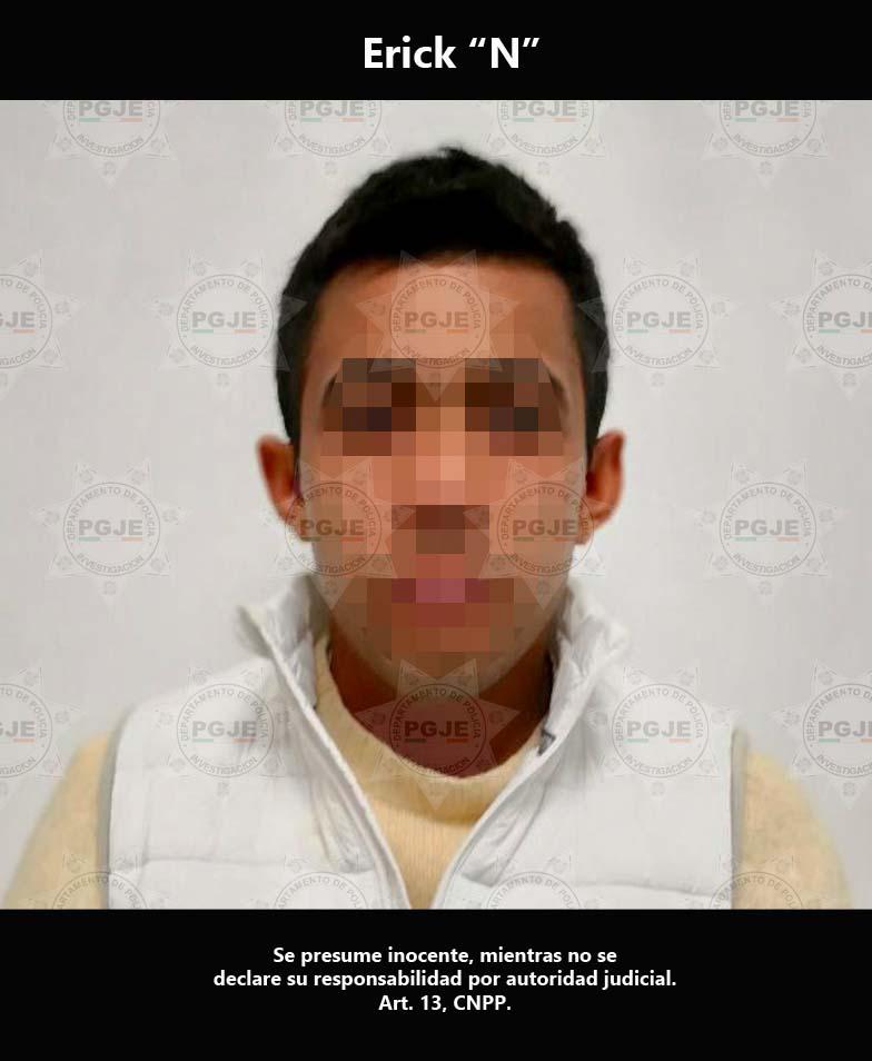 Aprehenden agentes de la PGJE a presunto homicida de Puebla