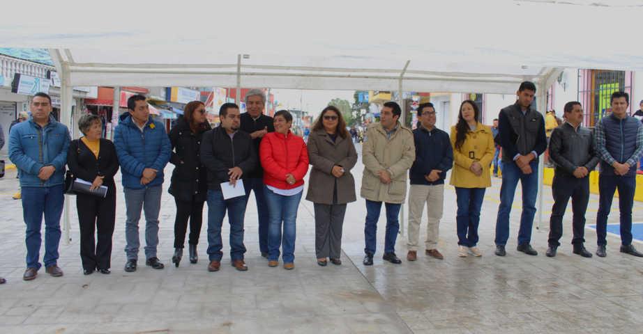 Ayuntamiento de Calpulalpan y Congreso mejoran la av. Morelos con 1,678 m2 de concreto