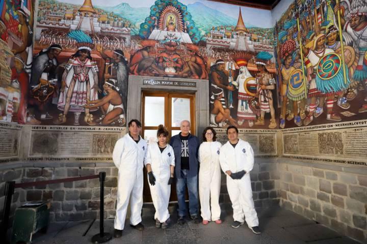 Registra 75% de avance restauración de murales Del Palacio De Gobierno