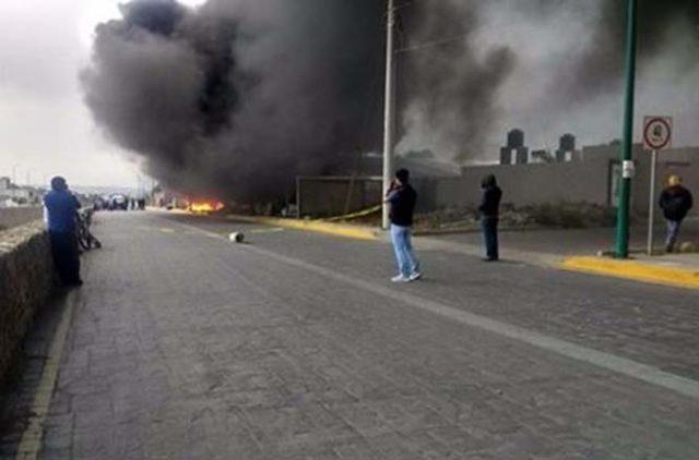 Deja un intoxicado incendio en fábrica de Huamantla