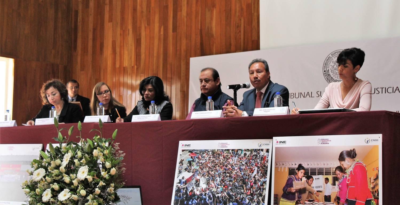 Realizan INE Tlaxcala y TSJE jornadas de democracia y derechos humanos