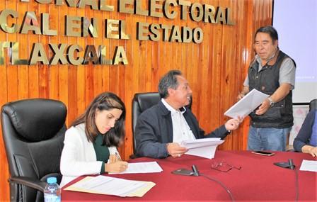 Entregan listado nominal de electores adicional al ITE y distrito 01