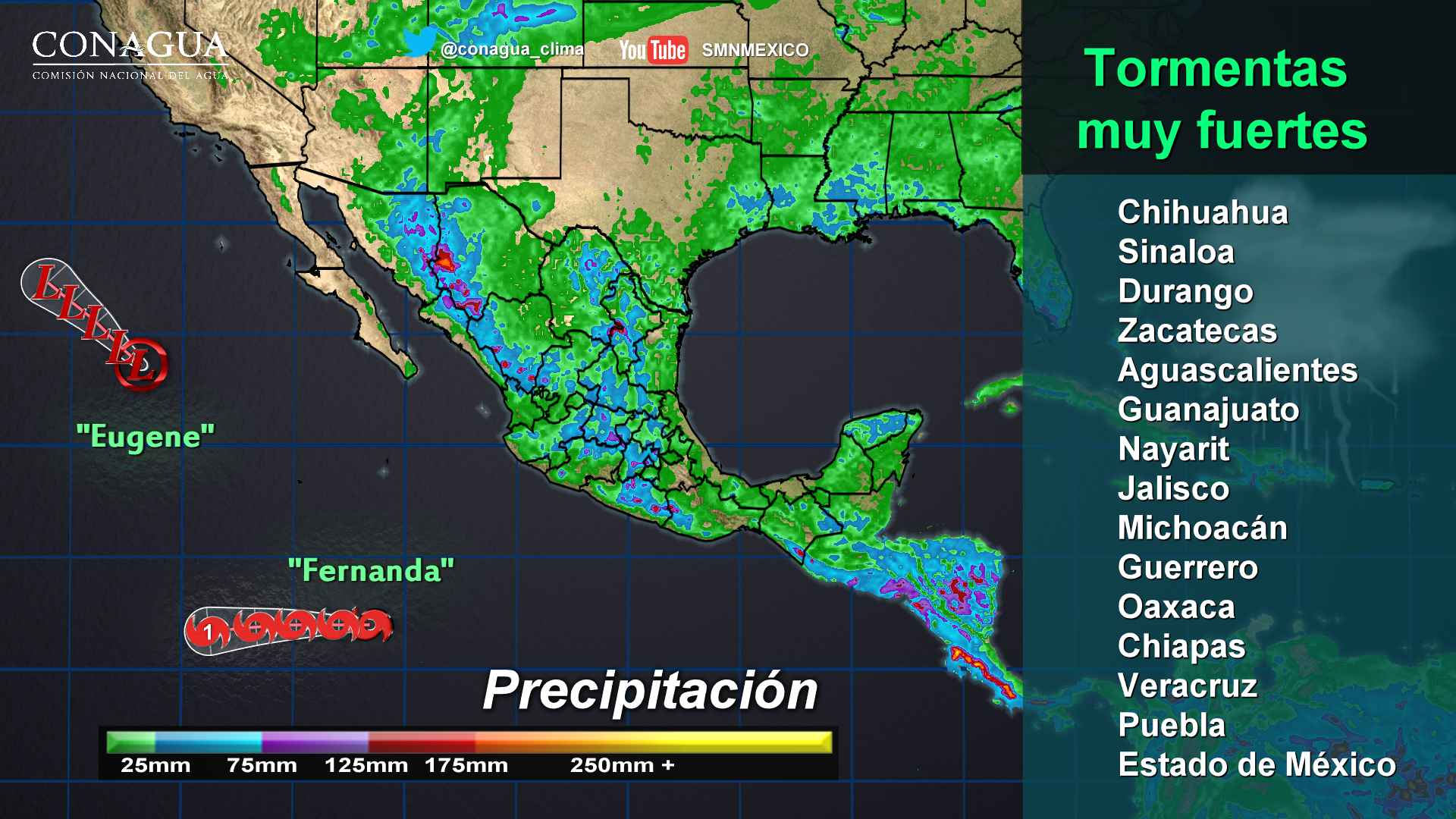 Intervalos de chubascos con tormentas fuertes se prevén para Tlaxcala