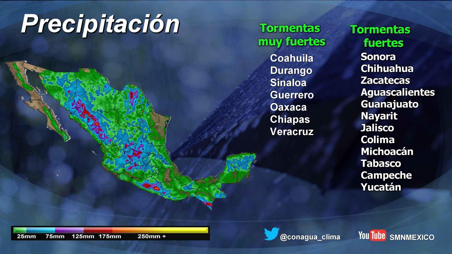 Lluvias dispersas se prevén hoy para Tlaxcala