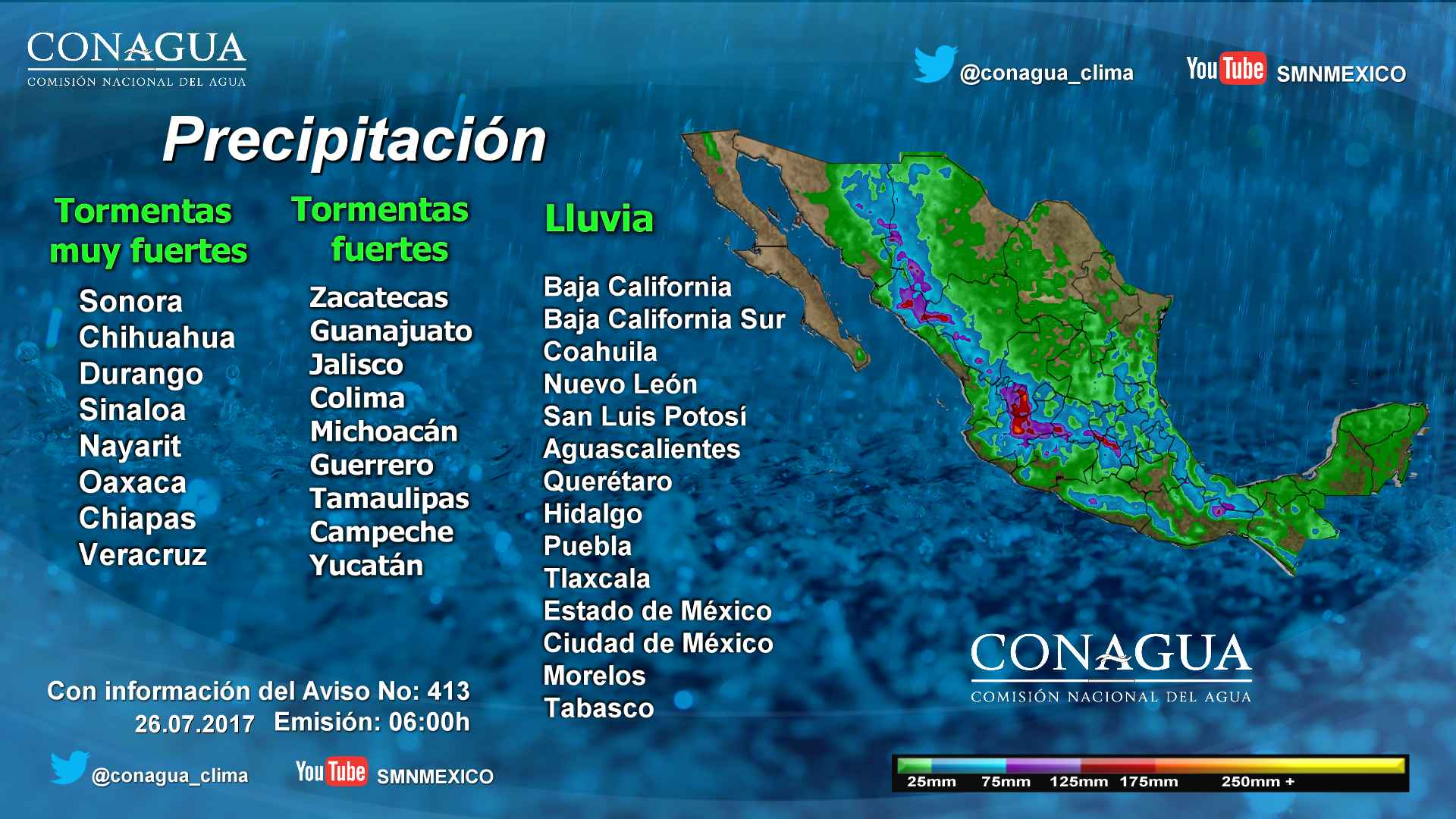 Se prevén lluvias y altas temperaturas en gran parte de Guerrero