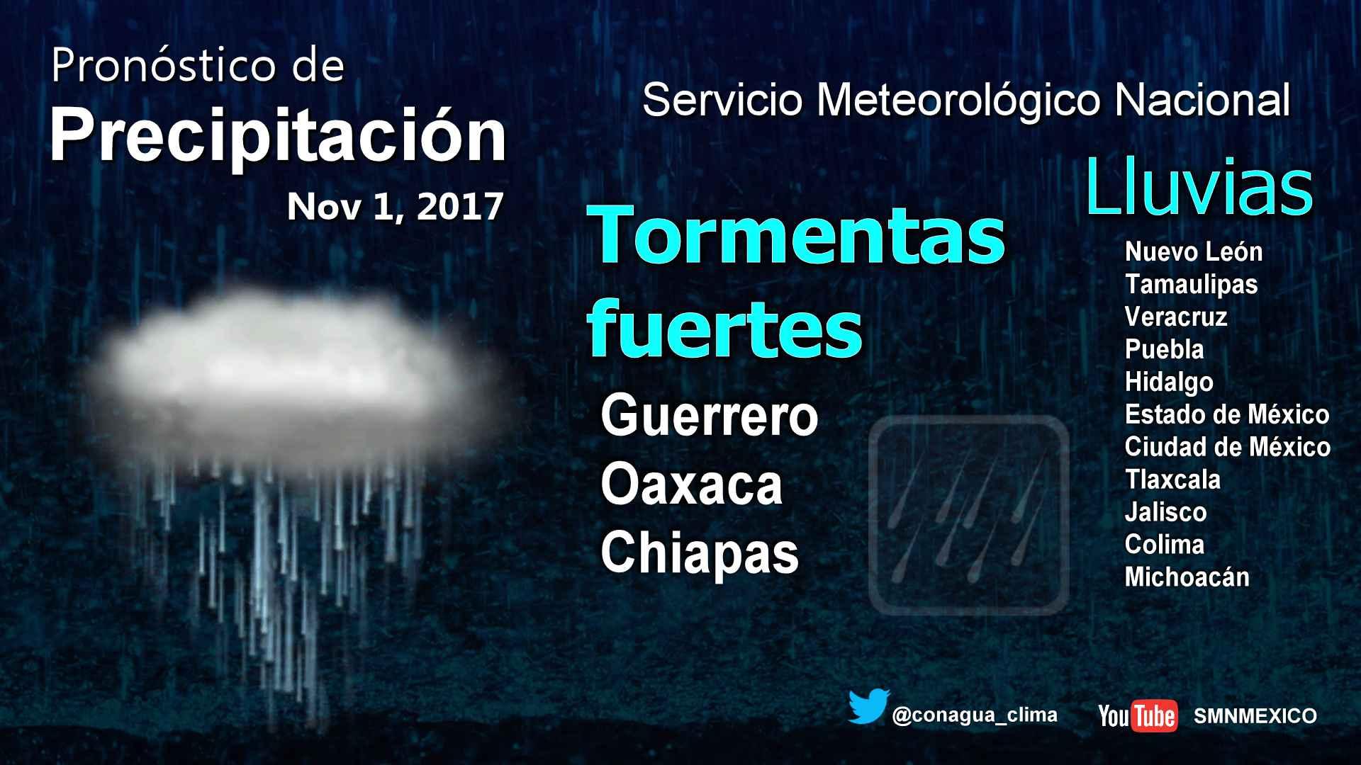 Se mantiene el pronóstico de lluvias con intervalos de chubascos para Tlaxcala